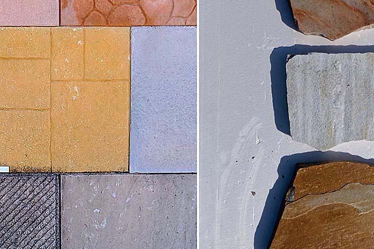 Pavimenti, autobloccanti, mattonelle e pietre di rivestimento